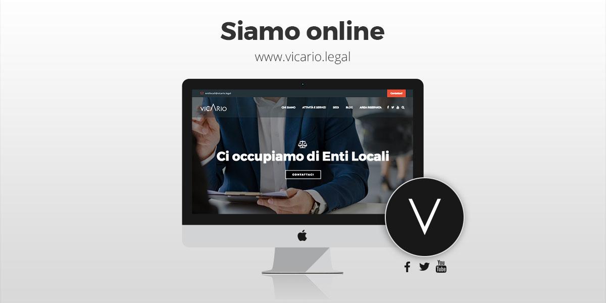 Vicario.legal è online
